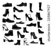 shoes icon black and white | Shutterstock .eps vector #235867927