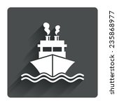 ship or boat sign icon....