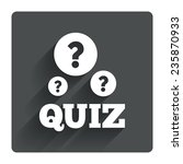 quiz with question marks sign...