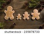 homemade christmas gingerbread... | Shutterstock . vector #235878733