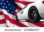 modern white car isolated on a... | Shutterstock . vector #235886557