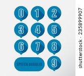 speech bubbles numbers set.... | Shutterstock .eps vector #235899907