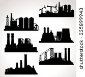vector set of industrial... | Shutterstock .eps vector #235899943