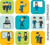 flat design learning concept... | Shutterstock .eps vector #235901653