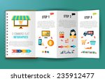 online shopping e commerce flat ... | Shutterstock .eps vector #235912477