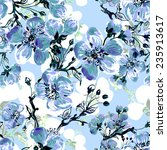seamless pattern of beautiful... | Shutterstock . vector #235913617