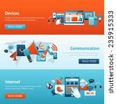 communication banner set with... | Shutterstock .eps vector #235915333