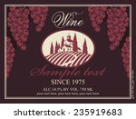 wine label with a landscape of... | Shutterstock .eps vector #235919683