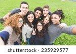 multiethnic group of friends... | Shutterstock . vector #235929577