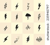 set of lightning icons and... | Shutterstock .eps vector #235940797