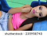 outdoor summer photo of... | Shutterstock . vector #235958743