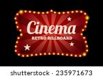 cinema sign or billboard in... | Shutterstock .eps vector #235971673