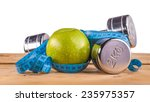 fitness equipment and healthy... | Shutterstock . vector #235975357