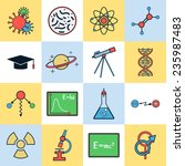 science icons vector set | Shutterstock .eps vector #235987483