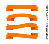 orange ribbons. vector... | Shutterstock . vector #235991383