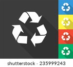 Recycle Icon   Gray And Colore...