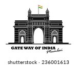 an illustration of gate way of... | Shutterstock .eps vector #236001613