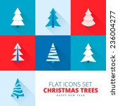 vector christmas trees... | Shutterstock .eps vector #236004277