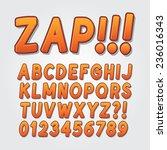 abstract comic pop art alphabet ... | Shutterstock .eps vector #236016343