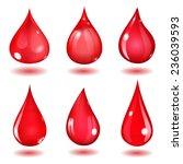 set of six opaque drops of... | Shutterstock . vector #236039593