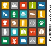 set of clothes icons. clothing ... | Shutterstock .eps vector #236069323