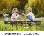 Cute Boy And Girl In Love. The...