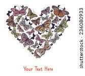 heart made of butterflies ... | Shutterstock .eps vector #236080933