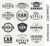 typographic car service label... | Shutterstock .eps vector #236089837