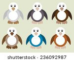 cute penguin in different color ...