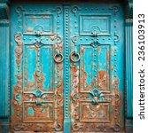 vintage metal door | Shutterstock . vector #236103913