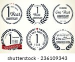 anniversary laurel wreath... | Shutterstock .eps vector #236109343