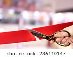 grand opening  cutting red...   Shutterstock . vector #236110147