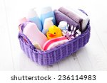 Basket Full Of Baby Accessorie...