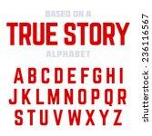 modern font  alphabet. ideal... | Shutterstock .eps vector #236116567