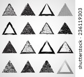 vector grunge triangle shapes .  | Shutterstock .eps vector #236119303