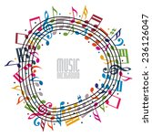 colorful music background with... | Shutterstock .eps vector #236126047