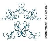 calligraphic design element ... | Shutterstock .eps vector #236126107