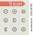 vector tire icon set on grey... | Shutterstock .eps vector #236128783