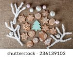 christmas colorful gingerbread... | Shutterstock . vector #236139103