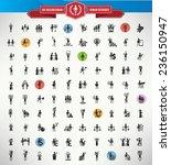 100 businessman human resource...   Shutterstock .eps vector #236150947