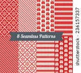set of christmas patterns with... | Shutterstock .eps vector #236157337