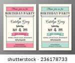 vector set of art deco birthday ... | Shutterstock .eps vector #236178733