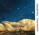clouds and stars on a textured... | Shutterstock . vector #236185963