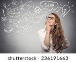 portrait happy young woman... | Shutterstock . vector #236191663