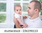 proud father smiling and... | Shutterstock . vector #236198113