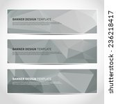 set of trendy grey vector... | Shutterstock .eps vector #236218417