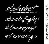 hand drawn chalk vector... | Shutterstock .eps vector #236238073