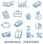 icon set business   finance... | Shutterstock .eps vector #236251063