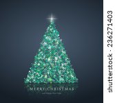 stylized green christmas tree... | Shutterstock . vector #236271403