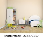 kids room bed room interior 3d... | Shutterstock . vector #236273317